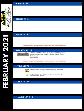 Weekly Chamber Member Calendar