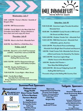 SummerFest July 7-10, 2021